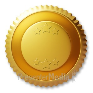 ID# 3660 - Blank Gold Seal - Presentation Clipart