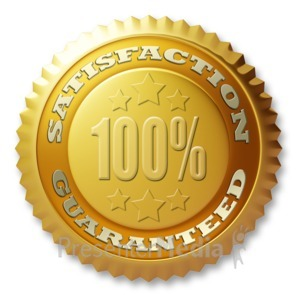 ID# 3661 - Gold Seal Satisfaction Guaranteed - Presentation Clipart