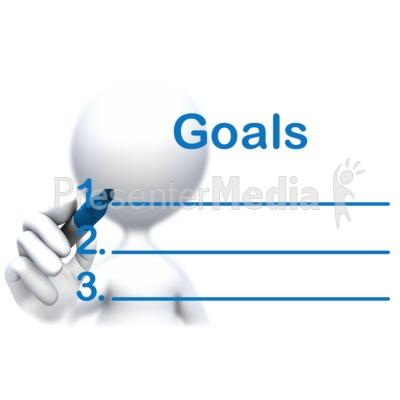 Stick Figure Drawing Goals PowerPoint Clip Art