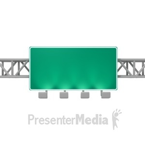 ID# 3674 - Overhead Freeway Sign - Presentation Clipart