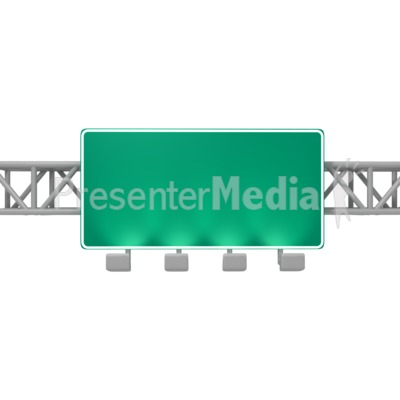 Overhead Freeway Sign PowerPoint Clip Art