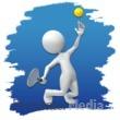 ID# 3687 - Stick Figure Tennis Icon - Presentation Clipart