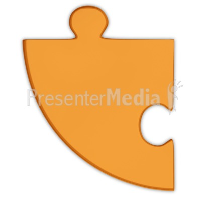 Pie Chart Puzzle Piece Orange  PowerPoint Clip Art