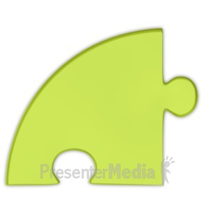 ID# 3689 - Pie Chart Puzzle Piece Green - Presentation Clipart