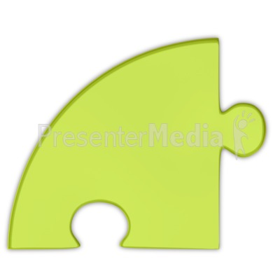 Pie Chart Puzzle Piece Green Presentation clipart