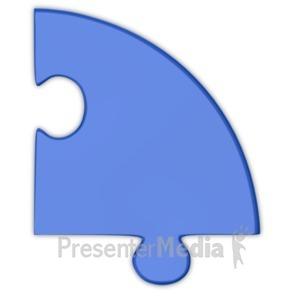 ID# 3690 - Pie Chart Puzzle Piece Blue  - Presentation Clipart
