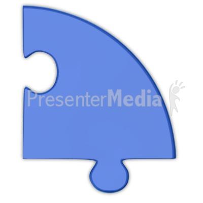 Pie Chart Puzzle Piece Blue  PowerPoint Clip Art