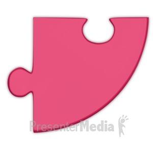 ID# 3691 - Pie Chart Puzzle Piece Magenta - Presentation Clipart