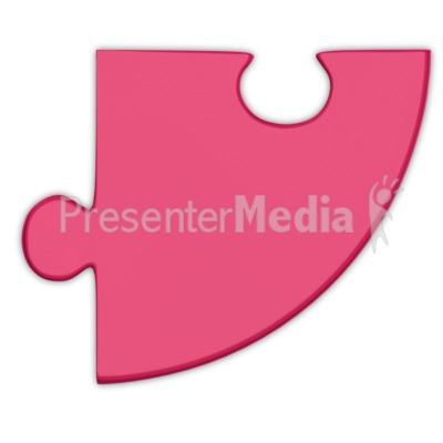Pie Chart Puzzle Piece Magenta PowerPoint Clip Art