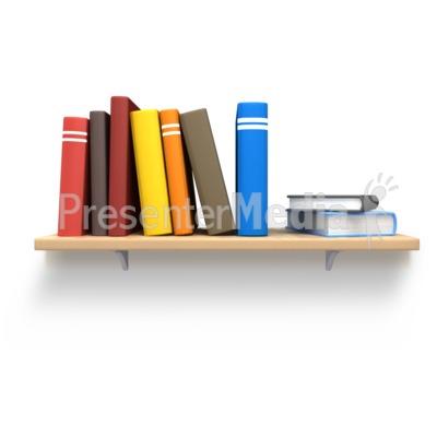 Books Shelf bookshelf books custom - education and school - great clipart for
