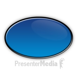 ID# 3709 - Oval Flow Chart Symbol - Presentation Clipart