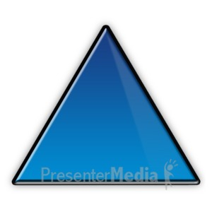 ID# 3713 - Triangle Flow Chart Symbol - Presentation Clipart