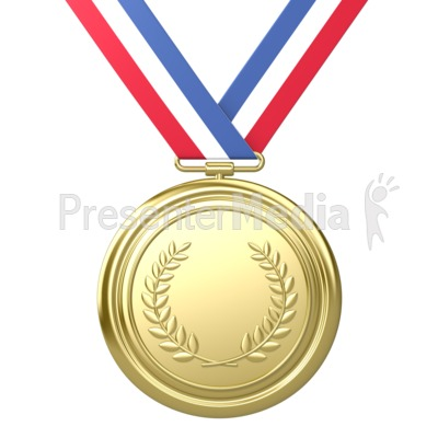 Gold Medal Award First Place PowerPoint Clip Art