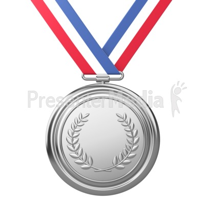Silver Medal Award Second Place PowerPoint Clip Art