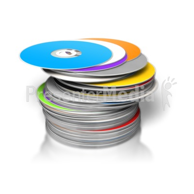 Large Pile DVDs/CDs Stacked - Science and Technology - Great ...