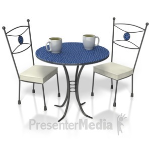 ID# 3738 - Coffee Table  - Presentation Clipart