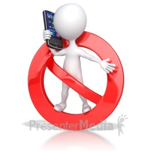 ID# 3742 - No Cell Phone Use - Presentation Clipart
