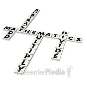 ID# 3747 - Mathematics Puzzle  - Presentation Clipart