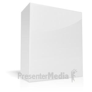 ID# 3748 - White Box  - Presentation Clipart