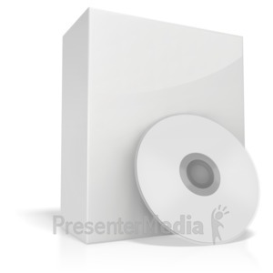 ID# 3750 - White Box With Cd - Presentation Clipart