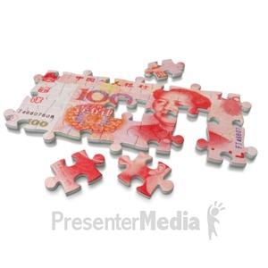 ID# 3754 - Renminbi Puzzle  - Presentation Clipart