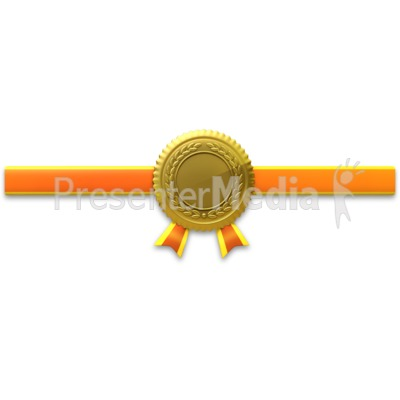 Gold Seal Horiztonal Ribbon PowerPoint Clip Art