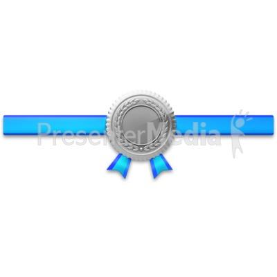 Silver Seal Horiztonal Ribbon PowerPoint Clip Art