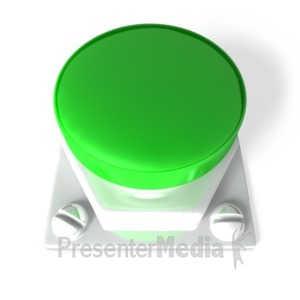 ID# 3762 - Green Blank Button - Presentation Clipart