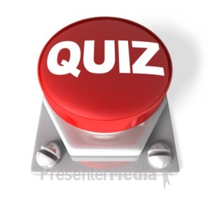 ID# 3763 - Red Quiz Button - Presentation Clipart