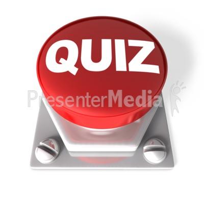 Red Quiz Button PowerPoint Clip Art