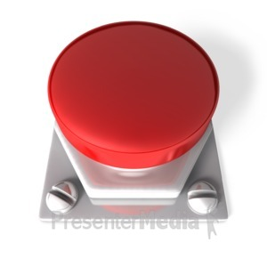 ID# 3764 - Red Blank Button - Presentation Clipart