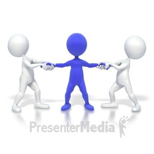 ID# 3783 - Pulled In Two Directions - Presentation Clipart