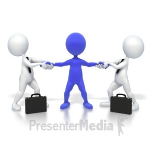 ID# 3787 - Fight Over Customer - Presentation Clipart