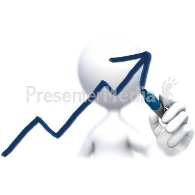 Stick Figure Drawing Up Arrow  PowerPoint Clip Art