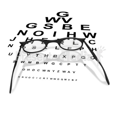 Womens Glasses with Eye Chart Medical and Health Great Clipart – Eye Chart Template