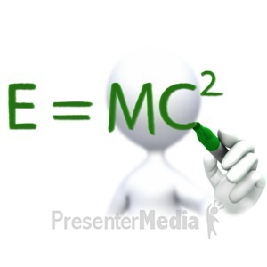 ID# 3805 - Drawing E Equals MC Sqaured Math Equatio - Presentation Clipart