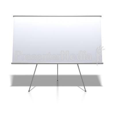 Blank whiteboard on stand education and school great clipart blank whiteboard on stand powerpoint clip art toneelgroepblik Choice Image