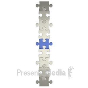 ID# 3810 - Puzzle Piece Connect  - Presentation Clipart