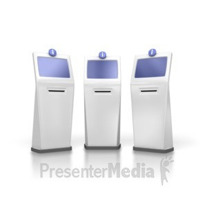 ID# 3829 - Group Of Information Kiosks - Presentation Clipart