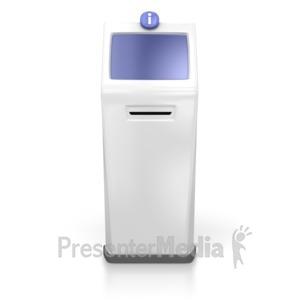 ID# 3833 - Single Kiosk - Presentation Clipart