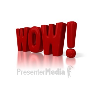 ID# 3842 - Big WOW text - Presentation Clipart