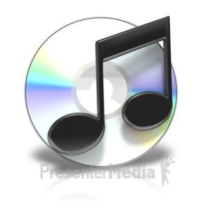 ID# 3857 - Cd Music Symbol - Presentation Clipart