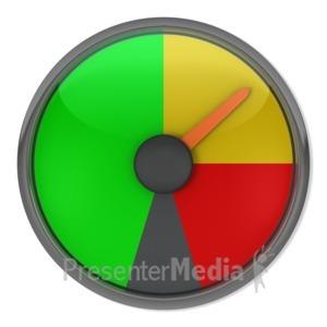 ID# 3868 - Yellow Gauge Indicator - Presentation Clipart