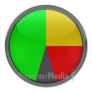 ID# 3869 - Blank Gauge Indicator - Presentation Clipart