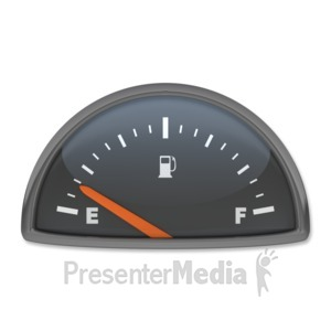 ID# 3887 - Fuel Gauge Empty - Presentation Clipart