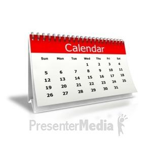 ID# 3892 - Desk Calendar Month - Presentation Clipart