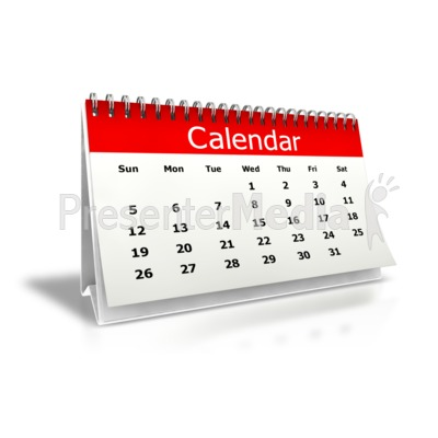 Desk Calendar Month PowerPoint Clip Art