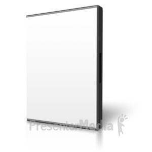 ID# 3895 - Blank Dvd Case Display - Presentation Clipart
