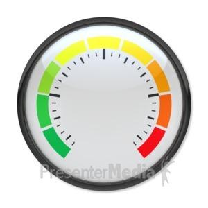 ID# 3896 - Blank Pressure Gauge - Presentation Clipart