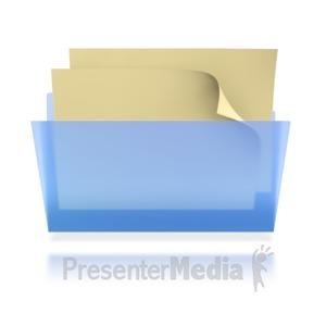 ID# 3906 - Transparent File Folder  - Presentation Clipart